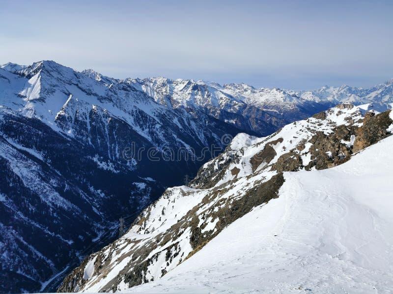 Aosta-Tal Bergkette stockfotografie