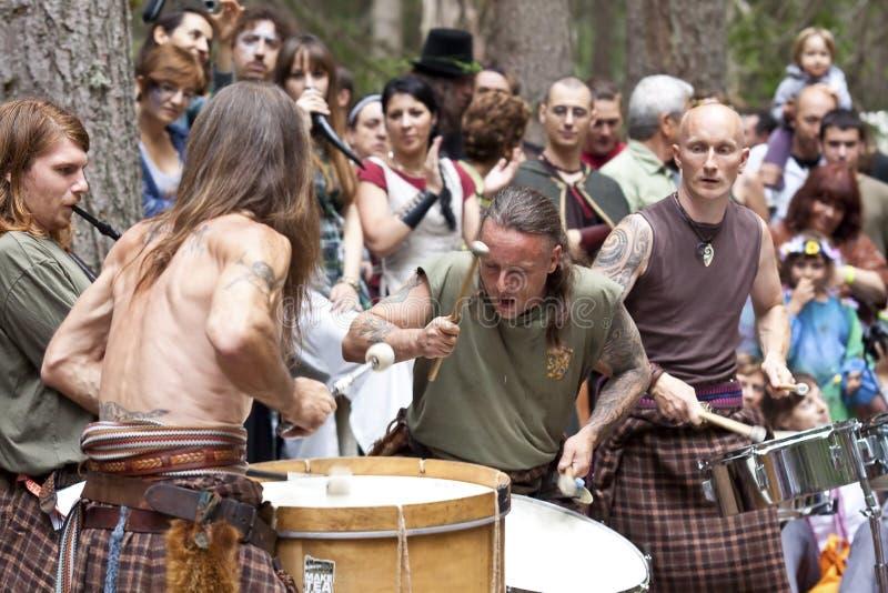 Aosta valley celtic fest stock photography