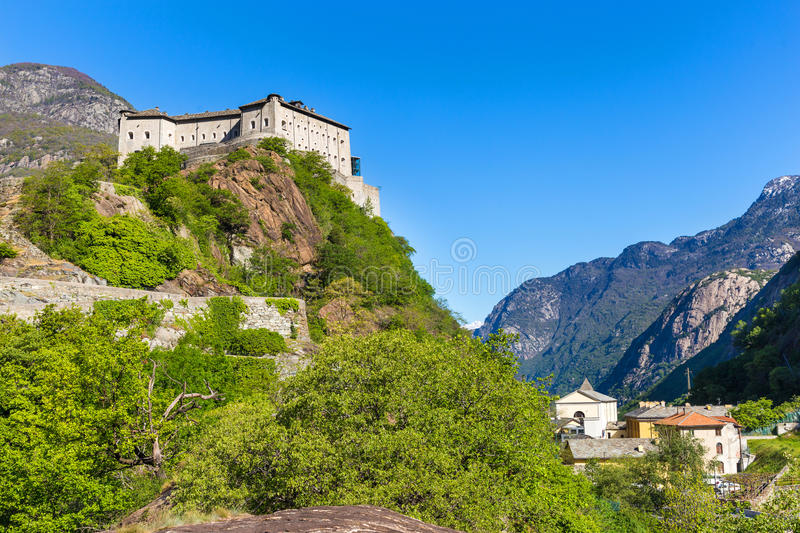 Fort Bard, Aosta Valley, Italy stock photography