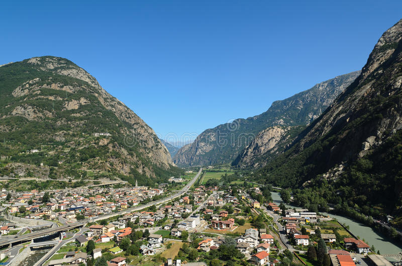 Aostavallei - Italië stock foto's