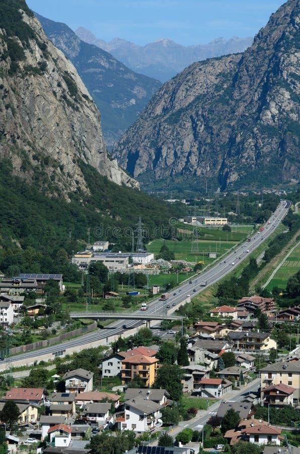 Aostavallei - Italië stock foto