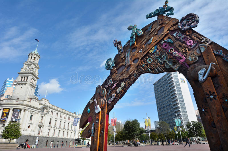 Aotea Square in Auckland - New Zealand royalty free stock photo