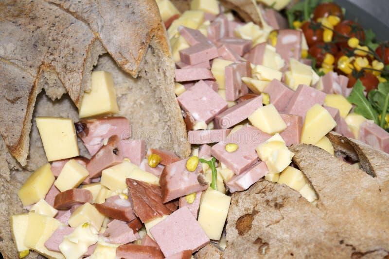 Apéritif de Bologna et de parmesan images stock