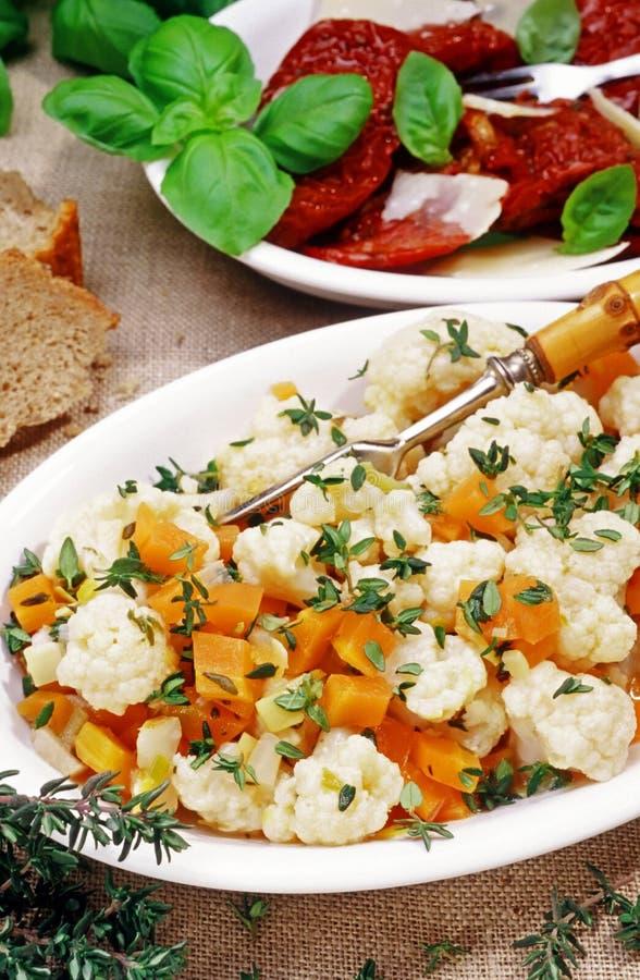 Apéritif et antipasti végétariens image stock