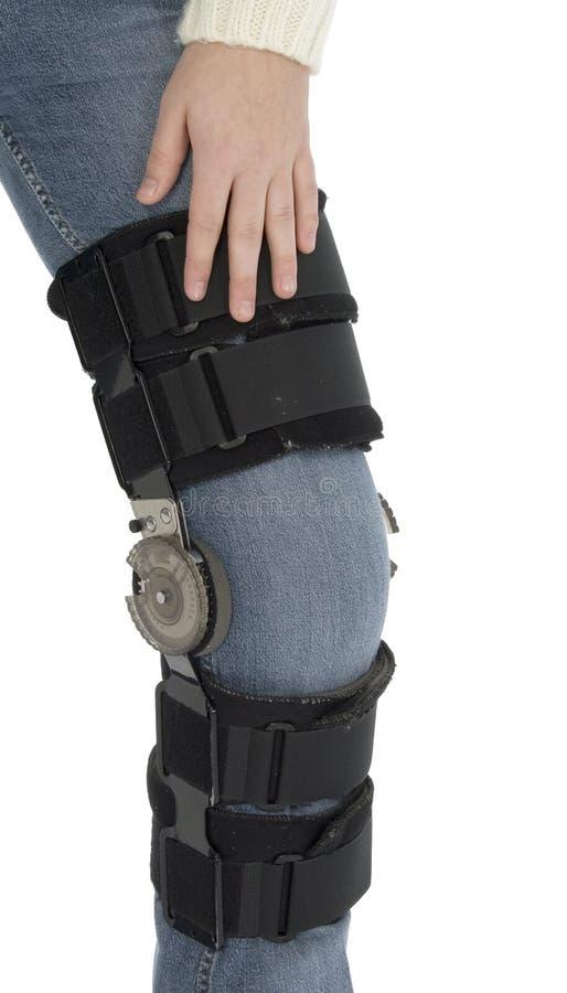 Após a cinta de joelho da cirurgia foto de stock royalty free