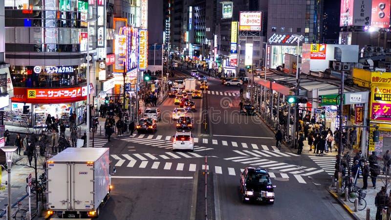 Após horas de escritório em Japão fotos de stock royalty free