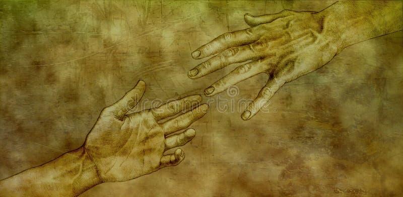 Após Michelangelo - Jesus e Peter ilustração do vetor