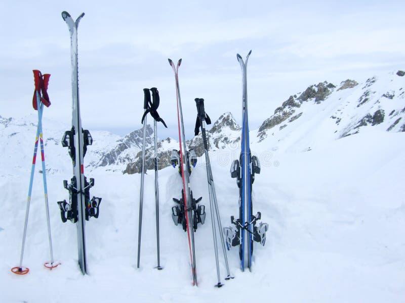 Após o esqui imagem de stock