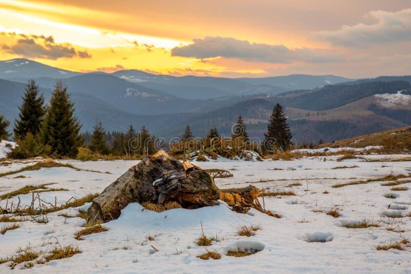 Após o por do sol da tempestade fotografia de stock royalty free