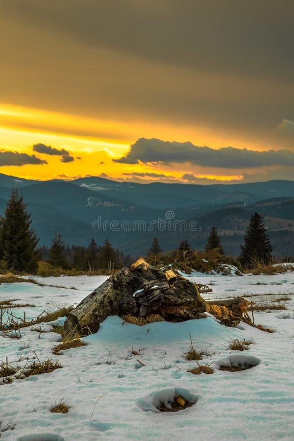 Após o por do sol da tempestade imagens de stock royalty free