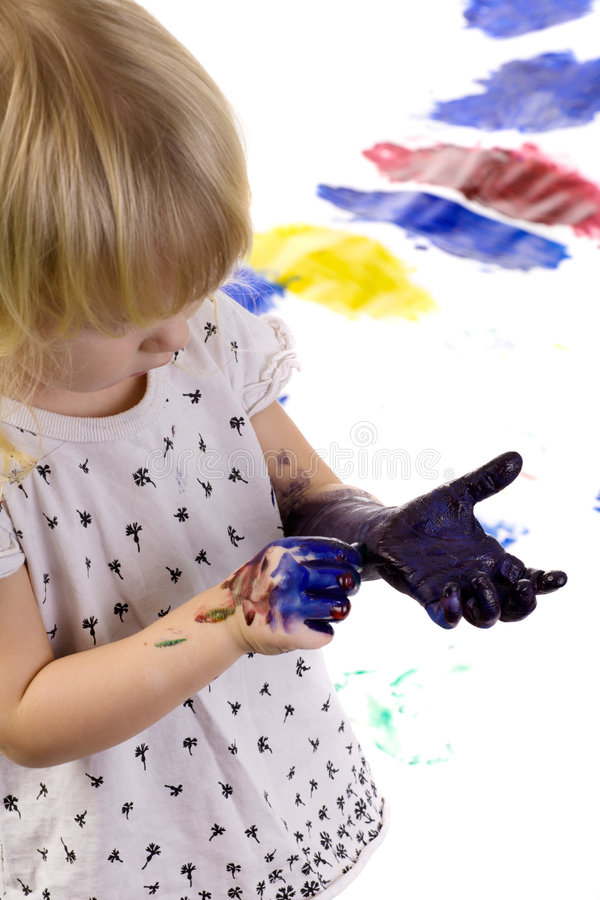 Após a pintura fotos de stock