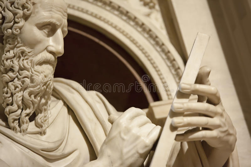 Apóstolo John em Loreto Italy fotos de stock