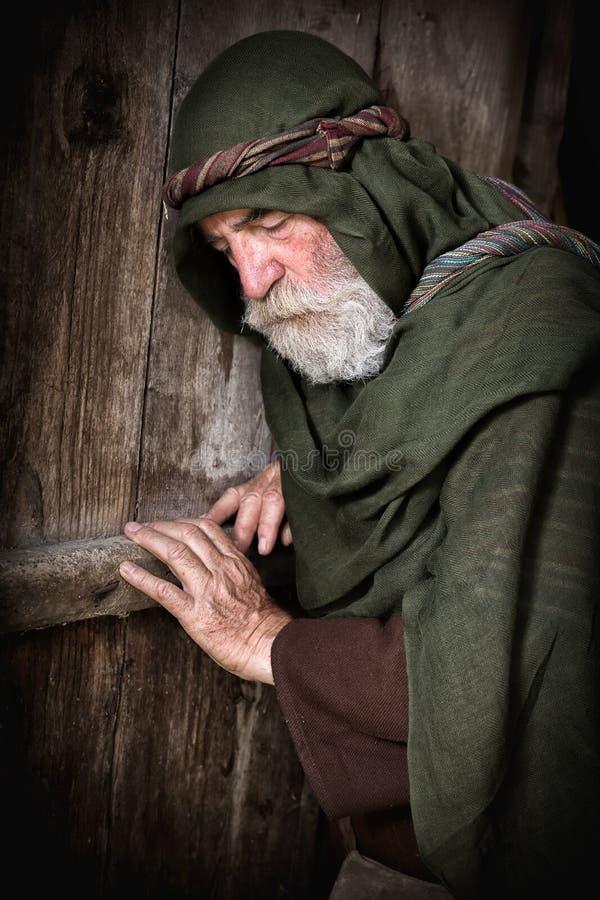 Apóstolo Peter na vergonha após ter negado Jesus imagens de stock royalty free