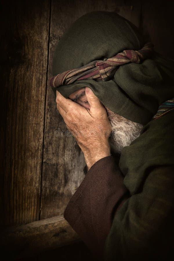 Apóstolo Peter na vergonha e no arrependimento fotos de stock