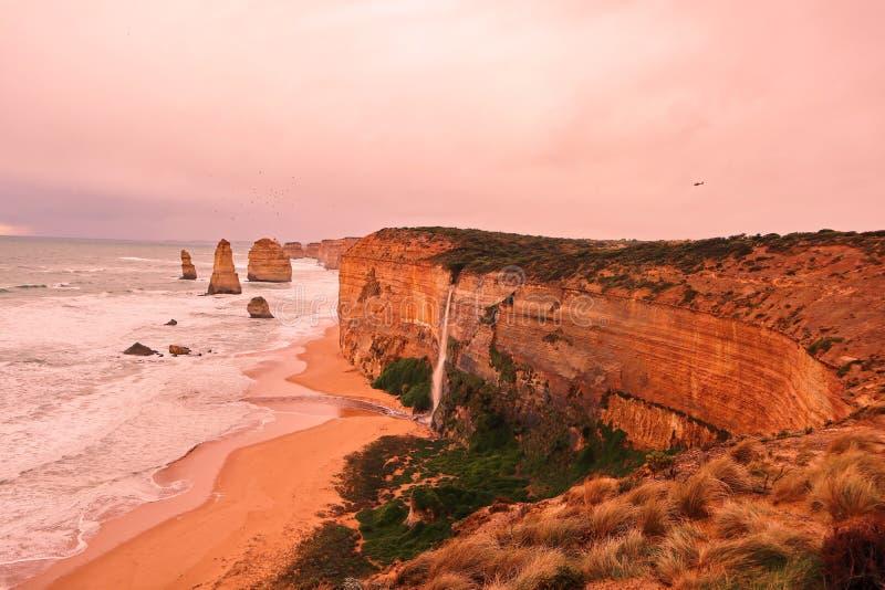 Apôtre 12 dans l'Australie de Melbourne images libres de droits
