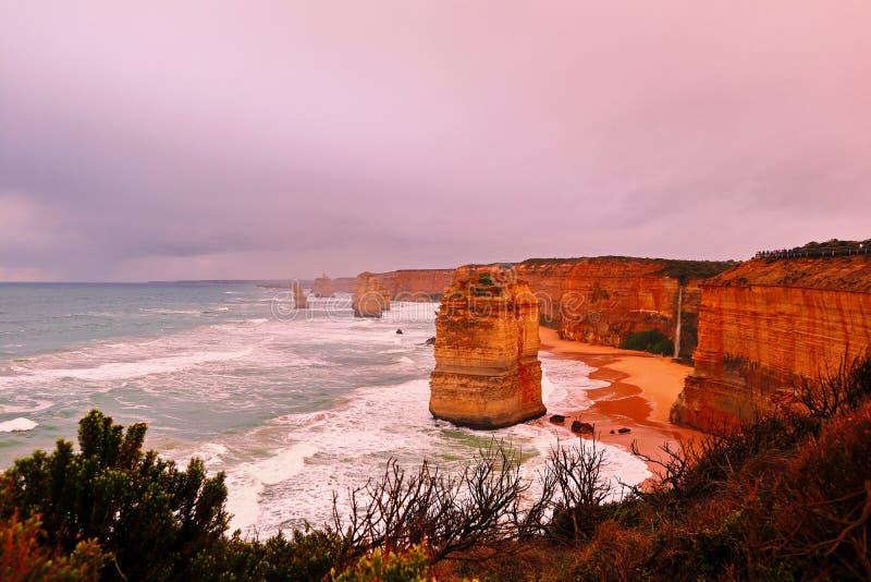 Apôtre 12 dans l'Australie de Melbourne images stock