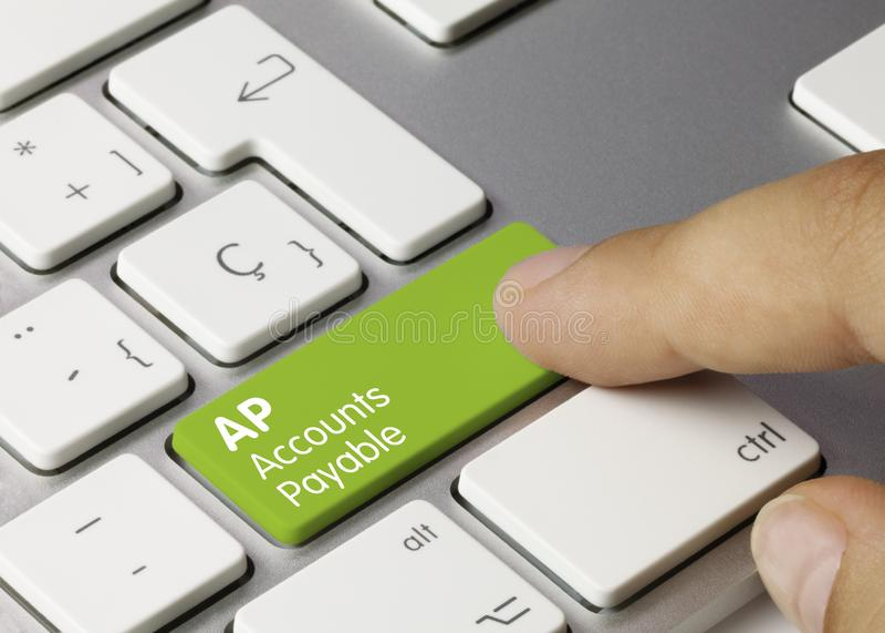 AP Accounts Payable - Inscription on Green Keyboard Key royalty free stock images