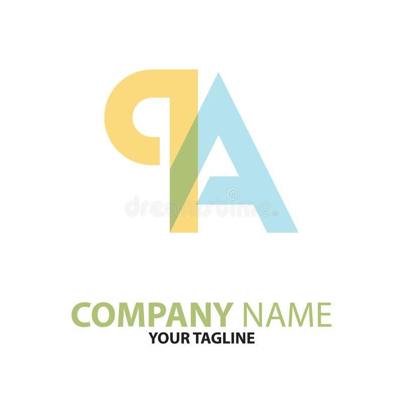 Download AP Concept Van Het PA Het Aanvankelijke Embleem Vector Illustratie - Illustratie bestaande uit zwart, zaken: 114226889