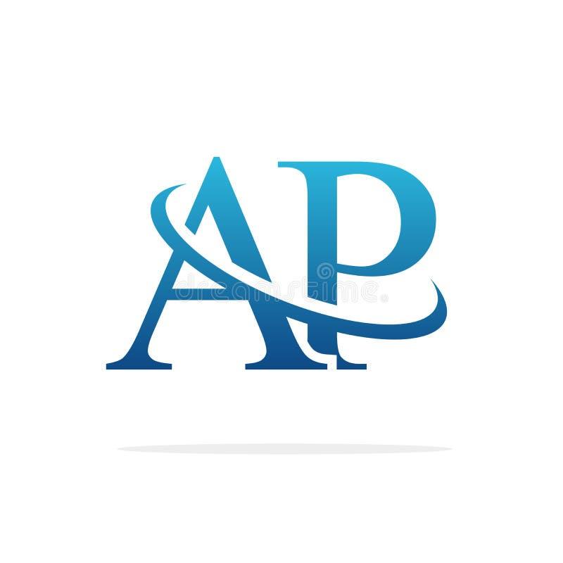 AP het Creatieve vectorart. van het embleemontwerp stock foto's