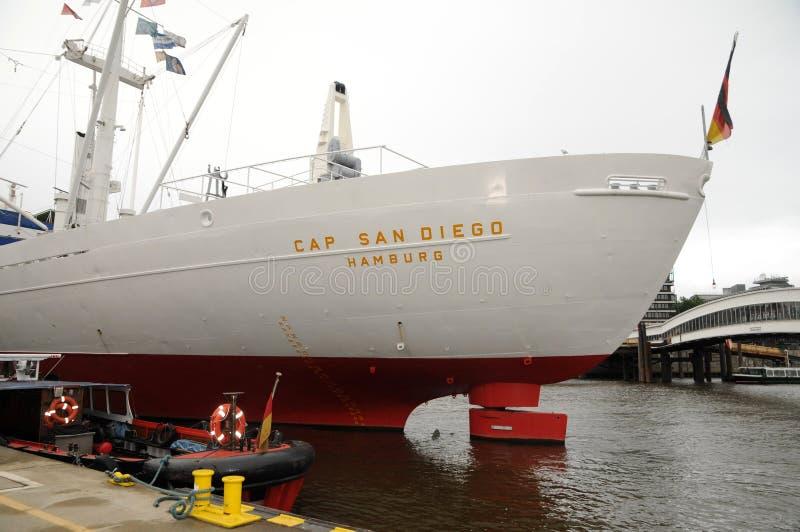 AP San Diego dans le port de Hambourg image libre de droits
