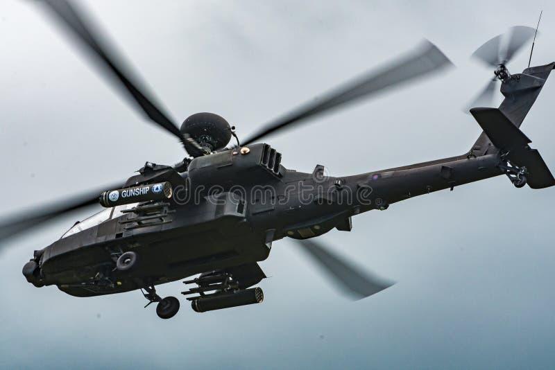 Apache śmigłowiec szturmowy obrazy royalty free