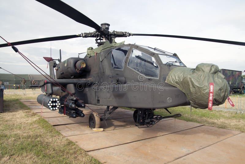 Apache AH-64D gevechtshelikopter gemaakt in de Sovjet-Unie royalty-vrije stock fotografie