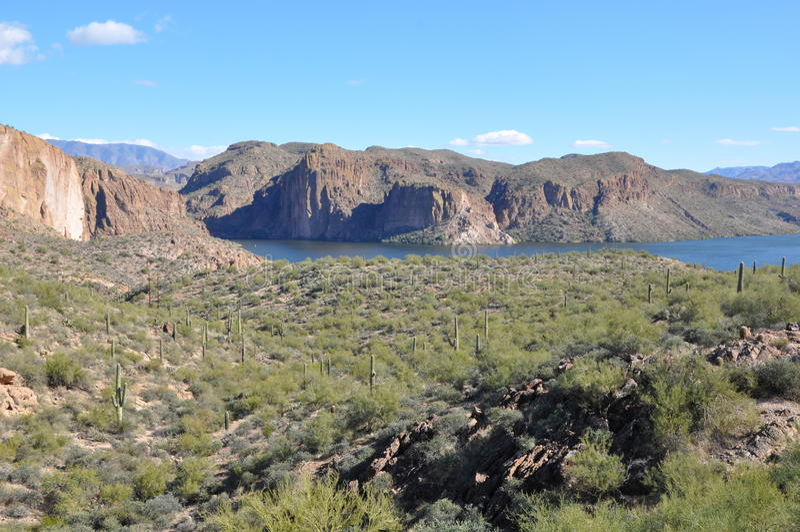 apache arizona lake royaltyfria bilder
