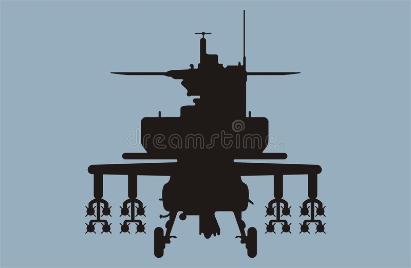 Download Apache helicopter 2 stock image. Image of illustration - 264485