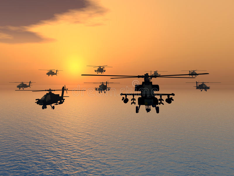 Download Apache Helicopter stock illustration. Illustration of aviation - 25604163