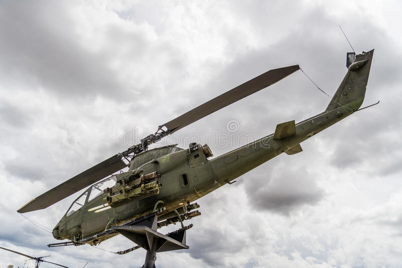 Apache helicopter vietnam era royalty free stock photo