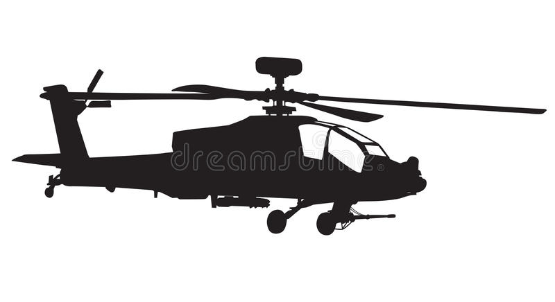 apache helikopter vektor illustrationer