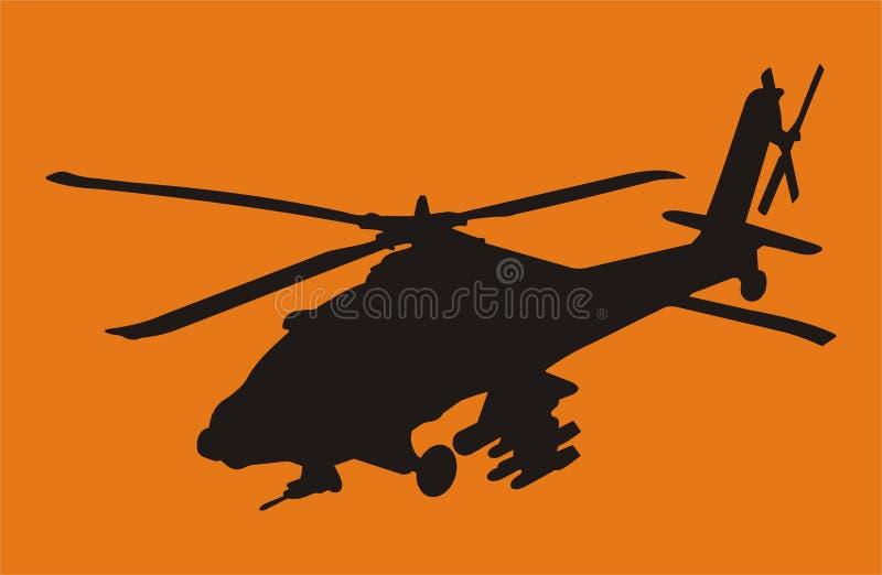 apache helikopter royaltyfri illustrationer