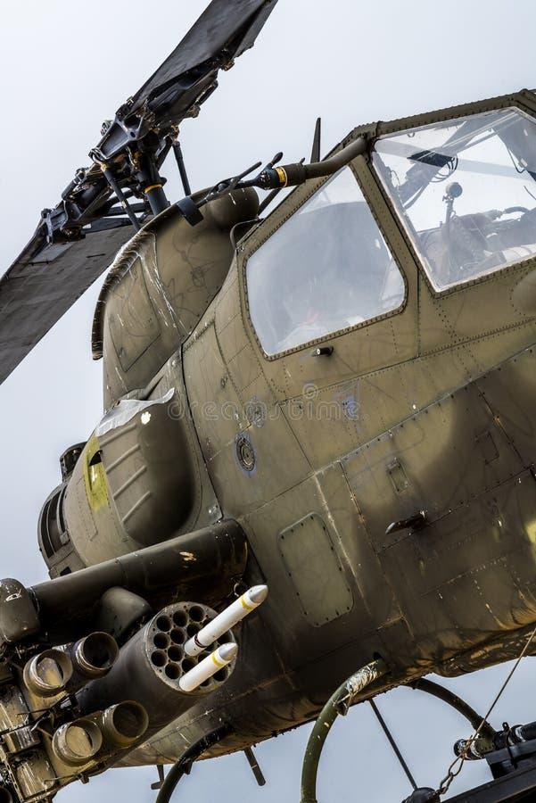 Apache helikopterVietnam era royaltyfria foton