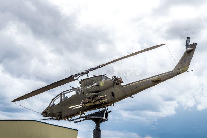 Apache helikopterVietnam era royaltyfria bilder