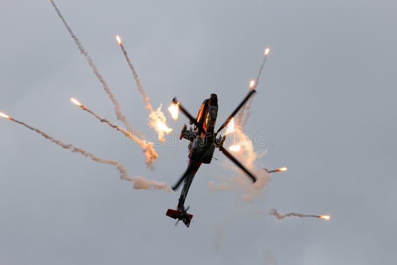 Apache-Hubschrauber lizenzfreie stockfotografie