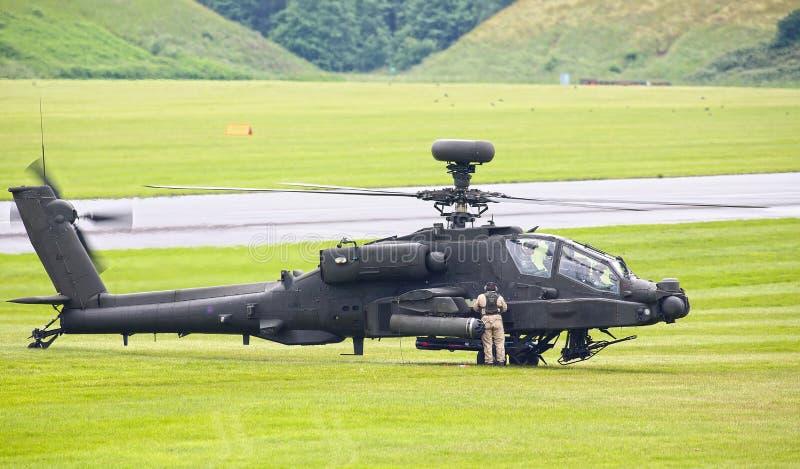 Apache-Hubschrauber lizenzfreie stockfotos