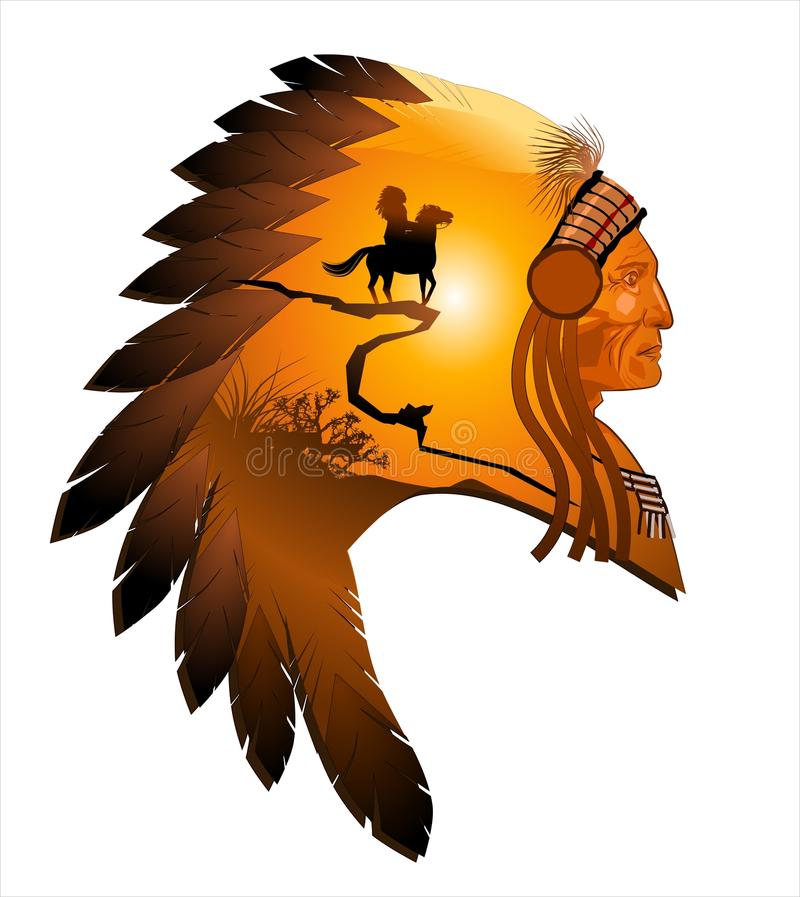 Apache-Leiter stock abbildung