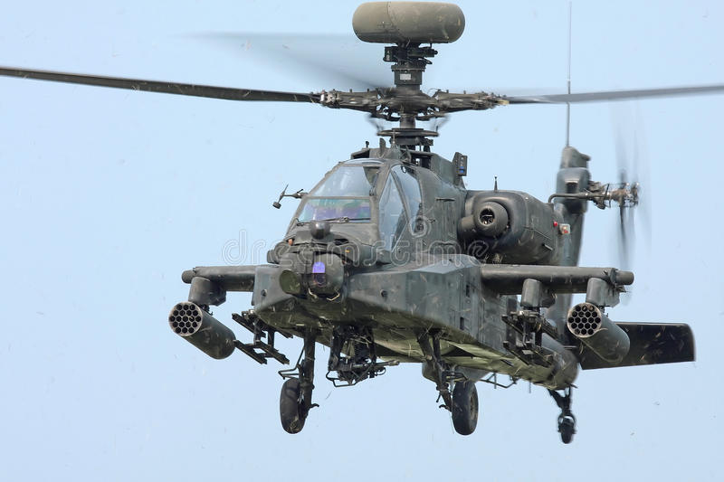 Apache Longbow Helicopter royalty free stock photo