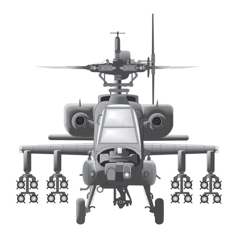 Apache machiny wojennej wektoru ilustracja ilustracji