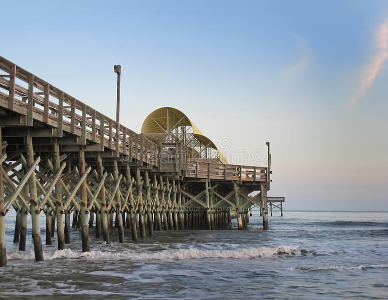 Apache pier myrtle beach south carolina stock photo for Fishing piers in myrtle beach