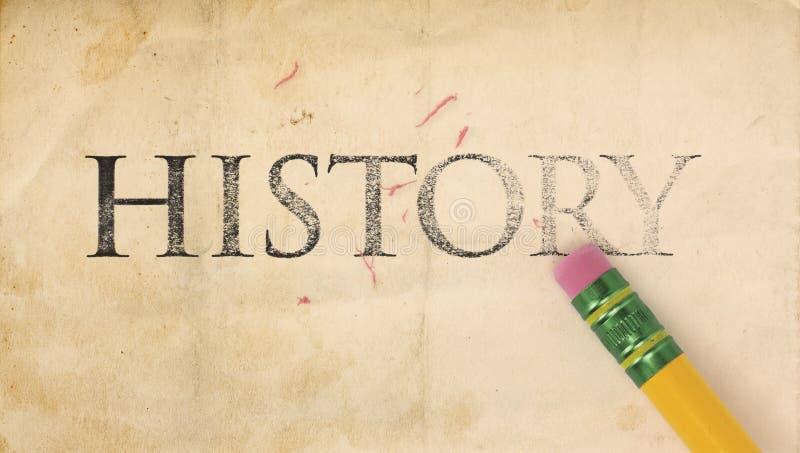 Apagando a História imagem de stock