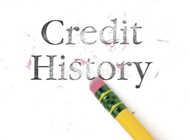 Apagando a História de crédito fotografia de stock royalty free