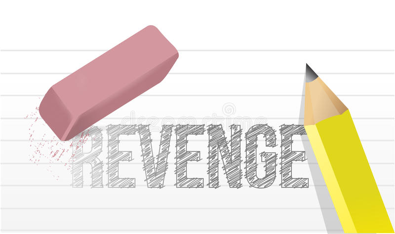 Apagando a ilustração do conceito da vingança ilustração stock