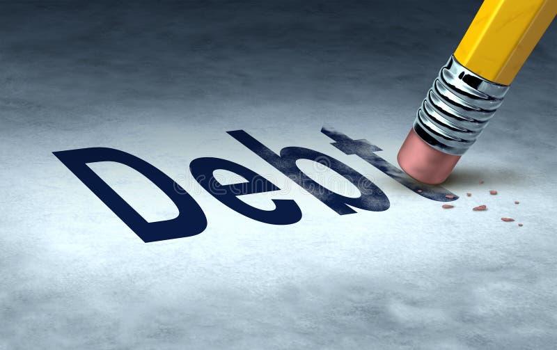 Apagando o débito ilustração stock