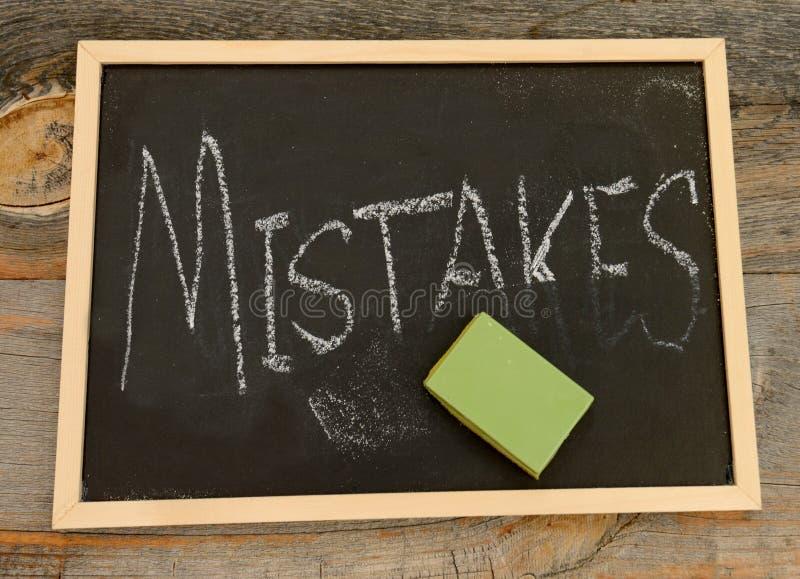 Apague seu conceito dos erros fotos de stock