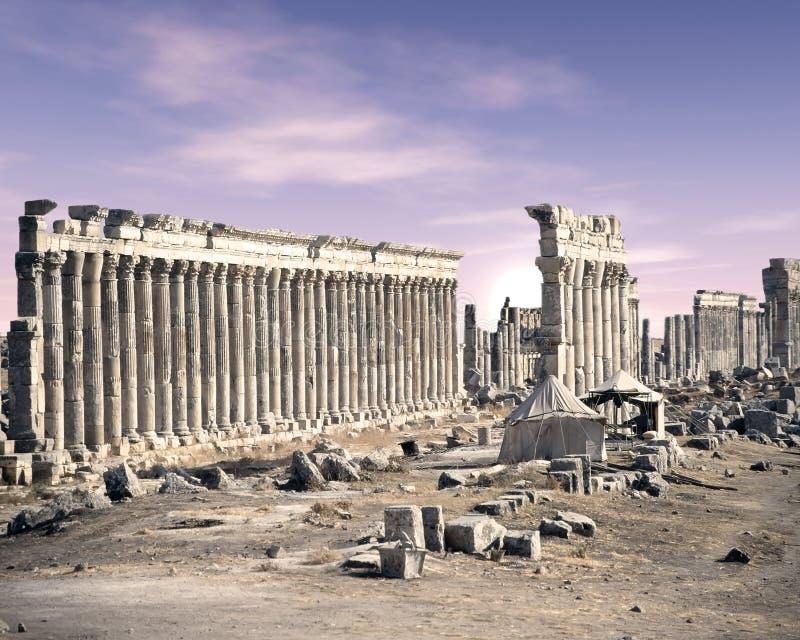 Apamea,叙利亚 免版税库存照片