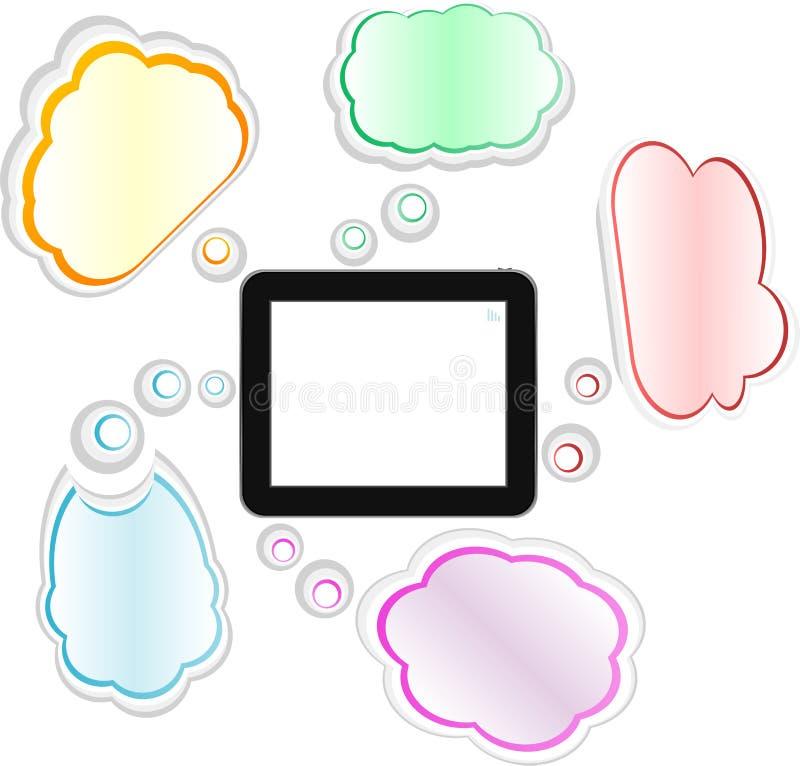 Apanni il concetto del rilievo di tocco e di computazione illustrazione vettoriale