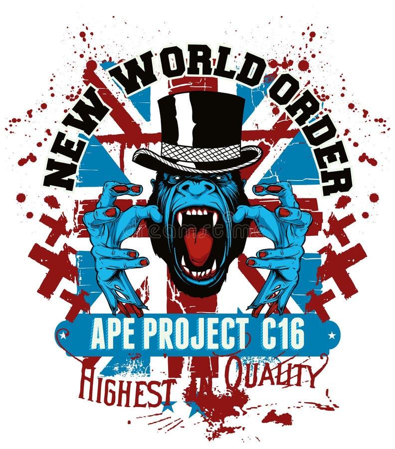 Apaprojekt stock illustrationer