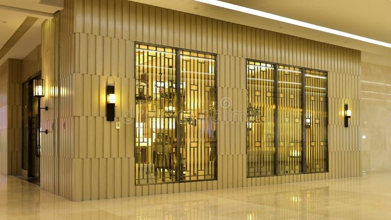 aparência externa da casa com a parede exterior de madeira elegante fotografia de stock