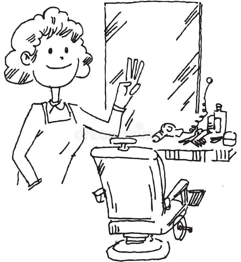 Aparador del pelo stock de ilustración
